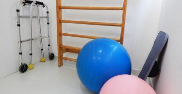 Imagem de itens usados em aulas de Pilates