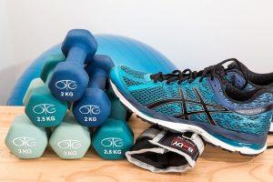 Imagem de itens usados na prática de Pilates