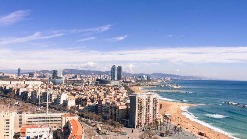 Imagem do bairro de La Barceloneta