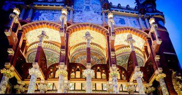 Palau de la Música Catalana iluminado