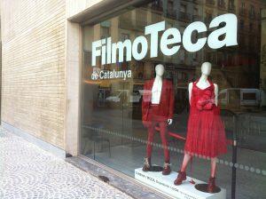Imagem da vitrine de Filmoteca de Catalunya