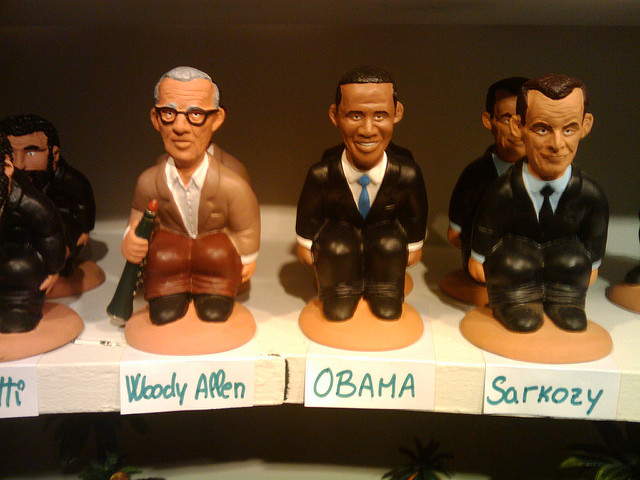Políticos famosos em versão de caganer