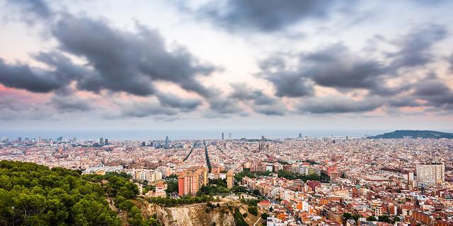 Paisagem mostra o planejamento urbano de Barcelona