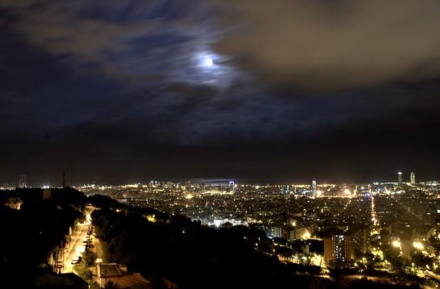 Vista de Barcelona a partir de um bunker de Carmel