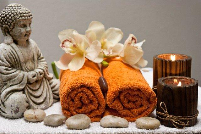Símbolos relacionados ao relaxamento e massagem
