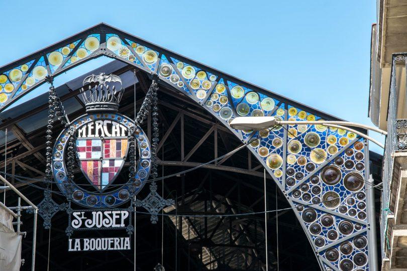 Imagem da frente do mercado La Boqueria