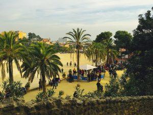 Imagem da Plaça de la Natura, no Parc Güell