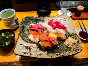 Cores e variedade da culinária japonesa