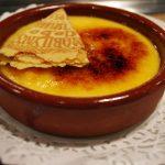 Pratos típicos: a crema catalana