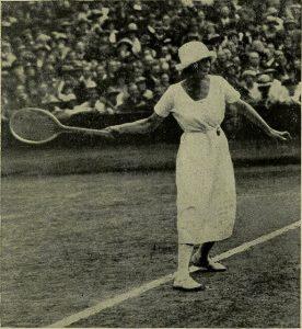 """A prática do tênis retratada no livro """"Lawn Tennis for Girls"""", de 1920"""