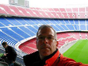 Que tal tirar selfies em pleno Camp Nou?