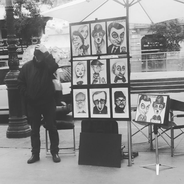 Las Ramblas is full of streetartists ! Have you beenhellip
