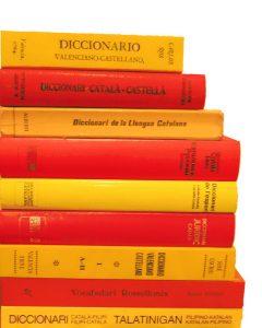 Imagem de dicionários de língua catalã