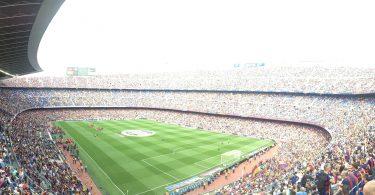 Imagem panorâmica do estádio Camp Nou