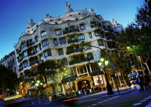 A Casa Milà é um dos principais pontos de referência da Passeig de Gràcia
