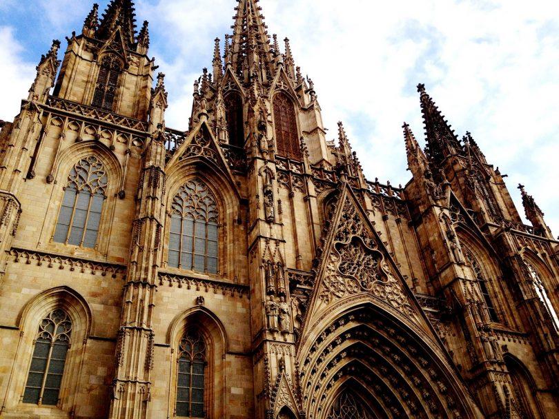 Imagem da Catedral de Santa Eulàlia, em Barcelona