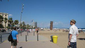 A praia de Barceloneta é um dos locais mais visitados do distrito de Ciutat Vella