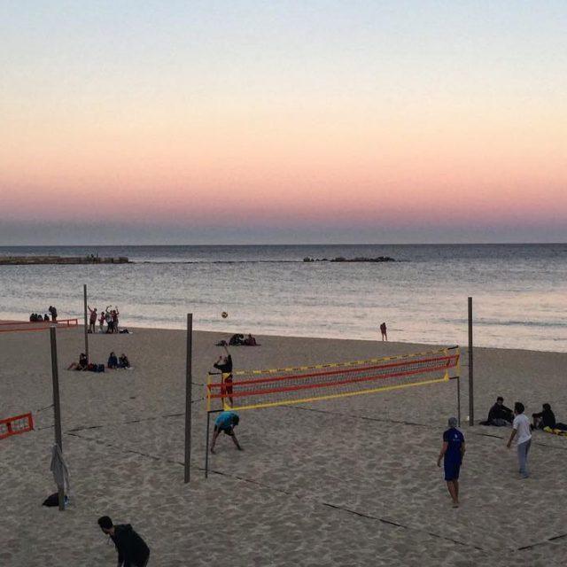 Sunset in Barcelona bcn playa beach volley spain espaa calorhellip