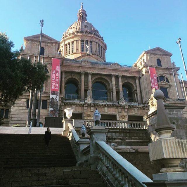 The grandiose Nacional Palace in the Montjuc Park barcelona montjuichellip