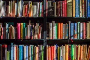 Imagem de vários livros um ao lado do outro