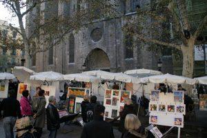 A Mostra d'Art - Pintors del Pi é uma das feiras de Barcelona de visita bastante recomendável