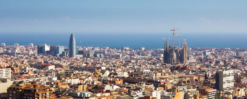 Imagem aérea da cidade de Barcelona