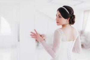 Imagem de mulher com vestido de casamento