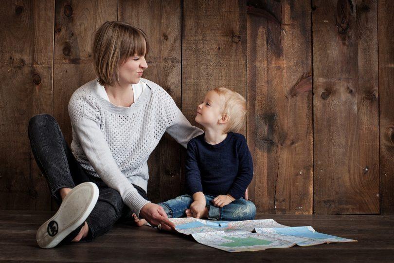 Imagem de mãe com seu filho