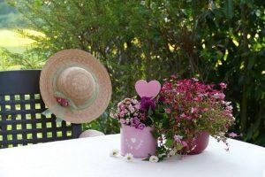 Imagem de flores sobre a mesa
