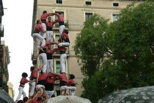 castellers na festa tradicional de Gràcia