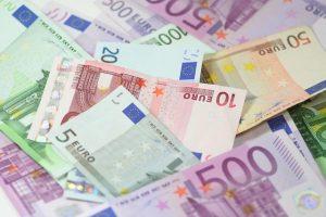 notas de dinheiro em euro