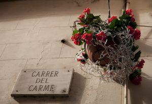 Imagem da Carrer del Carme, rua da loja das poçõe e feitiços