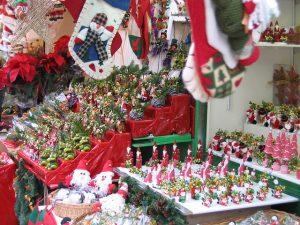 Imagem de produtos natalinos no Mercat de Santa Llúcia