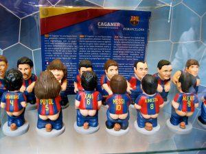 Imagem de caganers do FC Barcelona