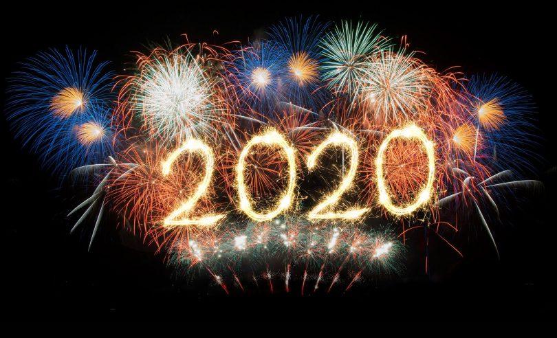 Imagem de fogos de Ano Novo 2020