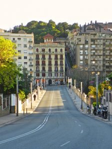 Imagem da Pont de Vallcarca, em Barcelona