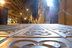 Imagem de chão de 'panots' em Eixample, Barcelona