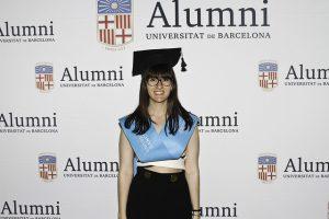 Imagem de uma aluna da Universitat de Barcelona