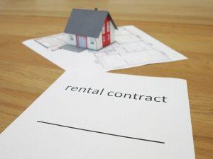 Imagem de uma folha de contrato de aluguel
