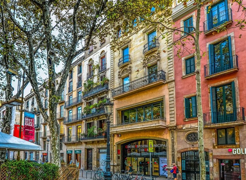 Imagem da rua de Barcelona