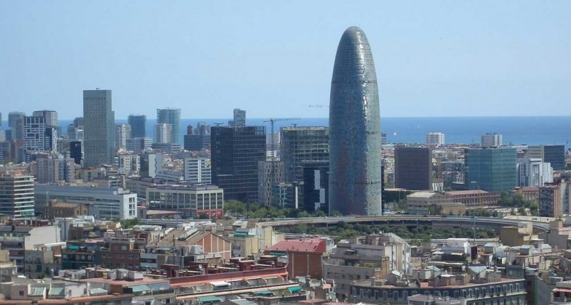 Panorama dos prédios situados no distrito 22@ de Barcelona
