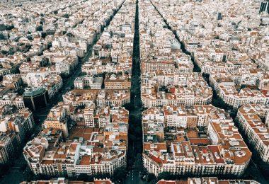 Vista aérea dos prédios de Barcelona